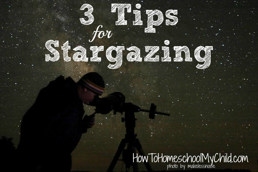 3 tips for stargazing & FREE space activities for kids from FREE activity guide from HowToHomeschoolMyChild.com