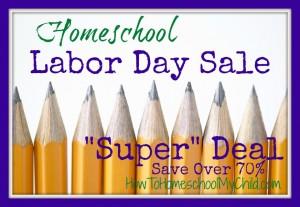homeschool labor day super deal from HomeschoolSuperHeroes.com and HowToHomeschoolMyChild.com