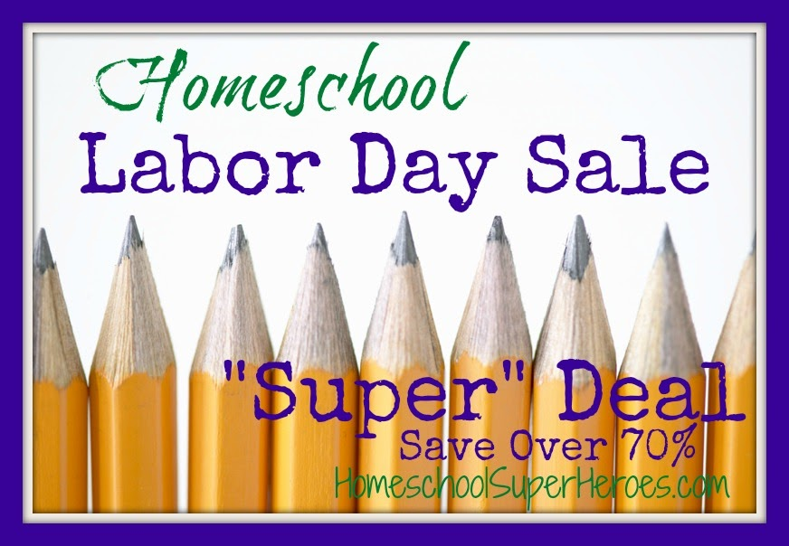 homeschool labor day super deal from HomeschoolSuperHeroes.com and HowToHomeschoolMyChild.com