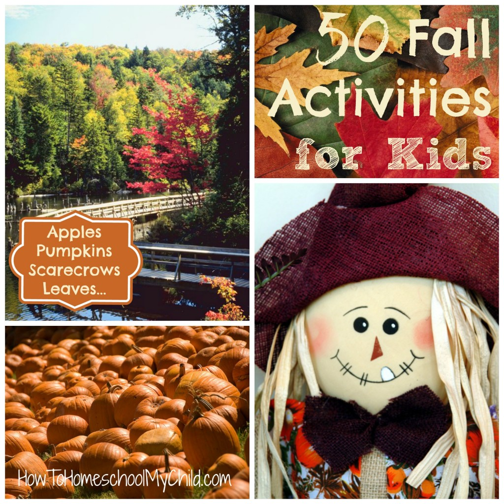 50 fall activities for kids | HowToHomeschoolMyChild.com