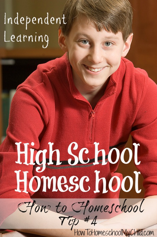 how to homeschool - independent learning in high school homeschool | HowToHomeschoolMyChild.com