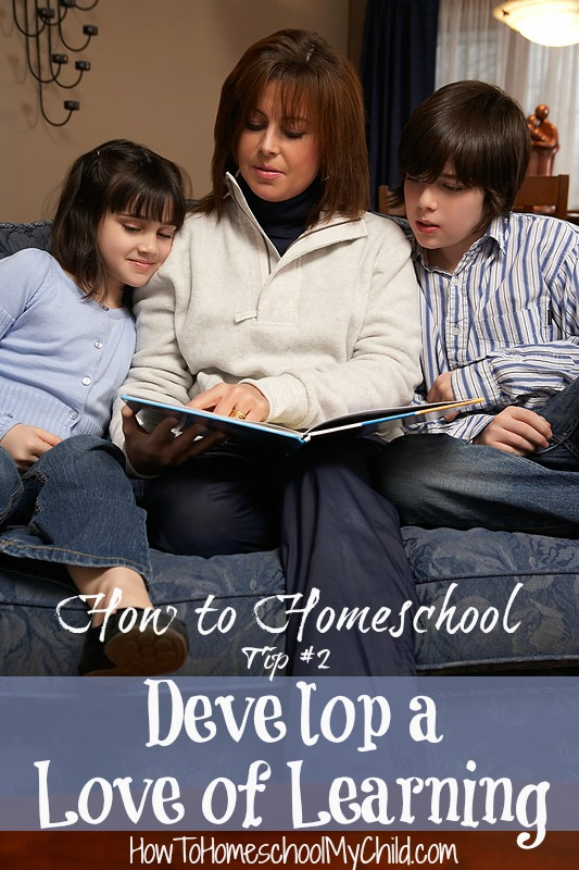 how to homeschool tip #2 - great ideas to develop a love of learning | HowToHomeschoolMyChild.com