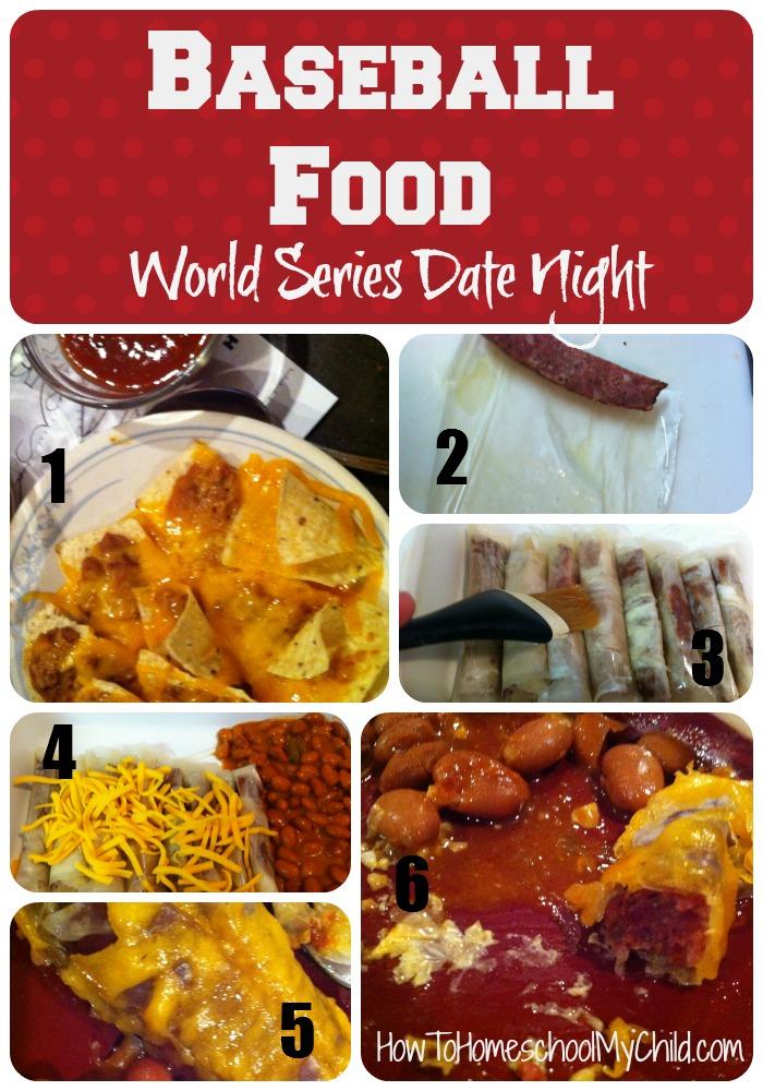 baseball food - world series date night idea from HowToHomeschoolMyChild.com