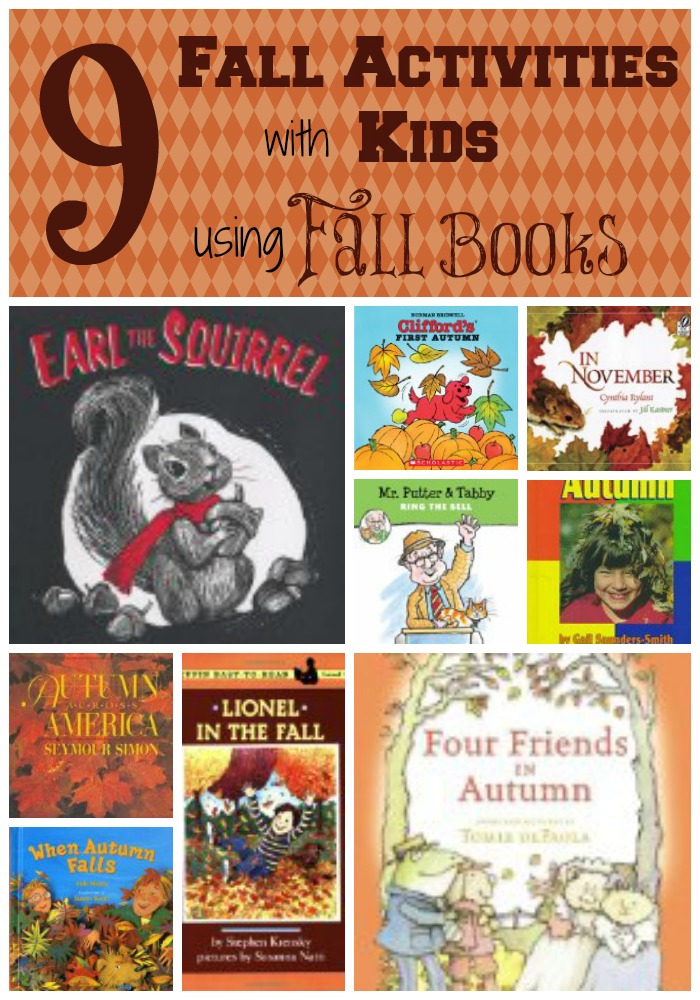 9 fall activities with kids using fall books - lots of fun - HowToHomeschoolMyChild.com