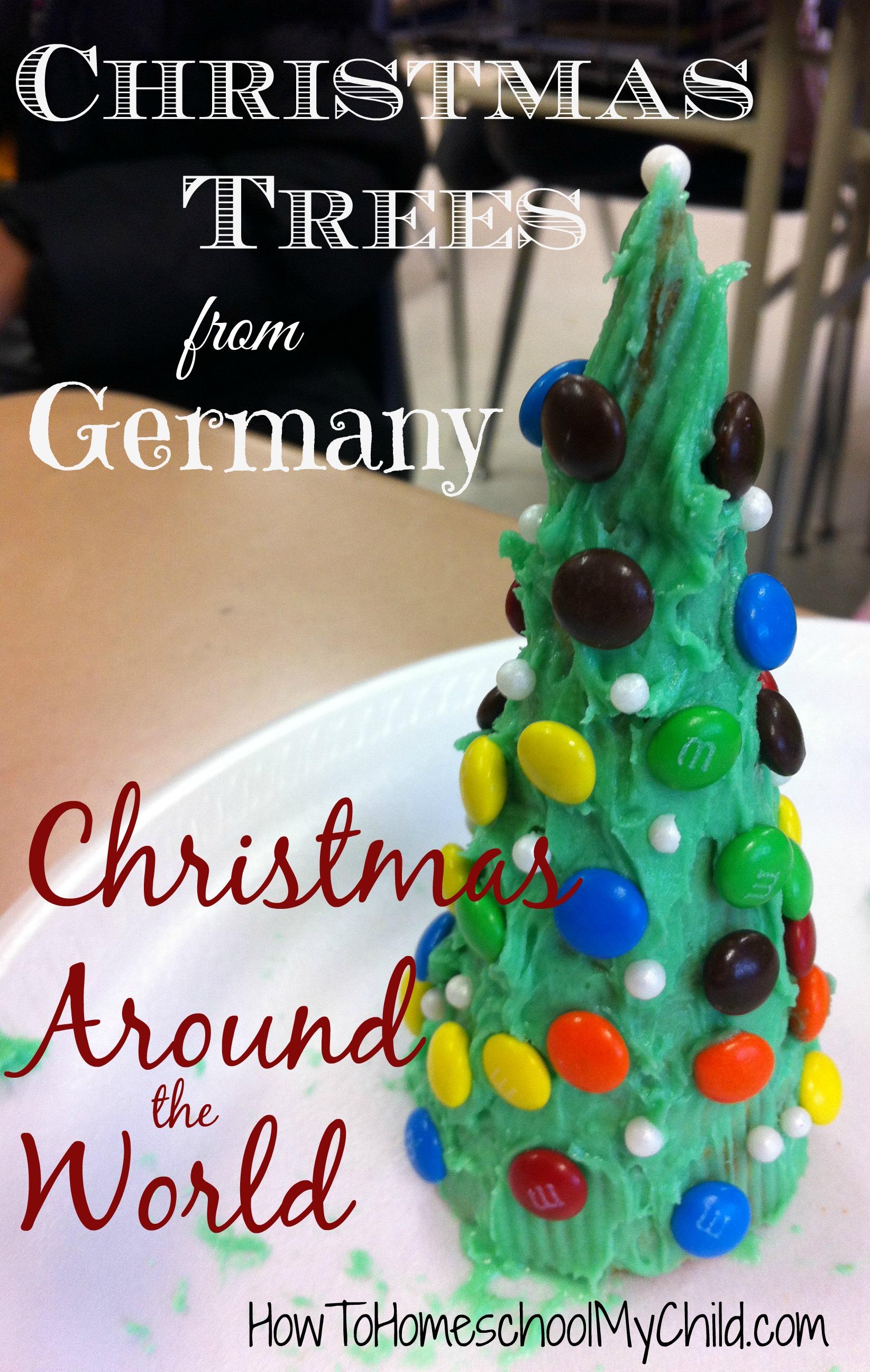 German Christmas traditions - Christmas trees from sugar cones { Christmas around the world }  ~  HowtoHomeschoolMyChild.com