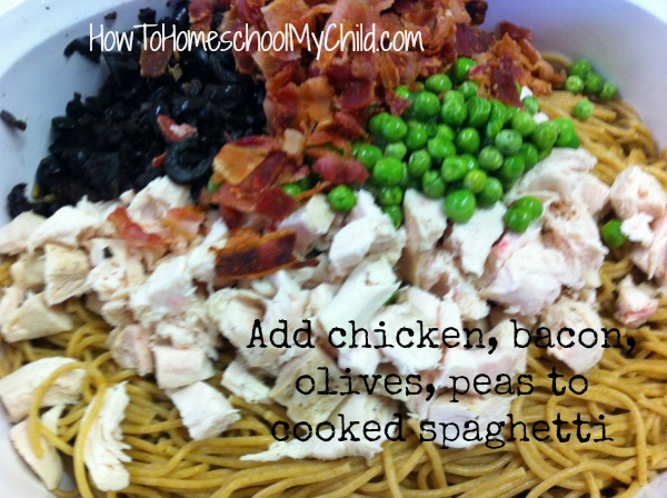 Chicken Tetrazzini Recipe from HowToHomeschoolMyChild.com