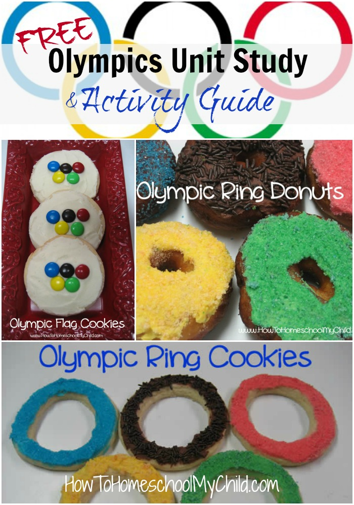 FREE olympics unit study  ~ from HowToHomeschoolMyChild.com