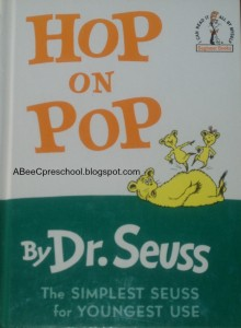 Hop on Pop  - Dr. Seuss activities from HowToHomeschoolMyChild.com