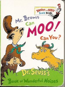 Mr. Brown Can Moo! Can You?  - Dr. Seuss activities from HowToHomeschoolMyChild.com