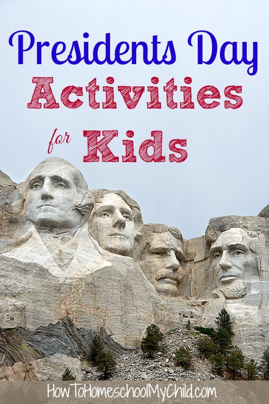 presidents day activites for kids  ... FREEbies, printables, unit studies & food activities  {Weekend Links} from HowToHomeschoolMyChild.com