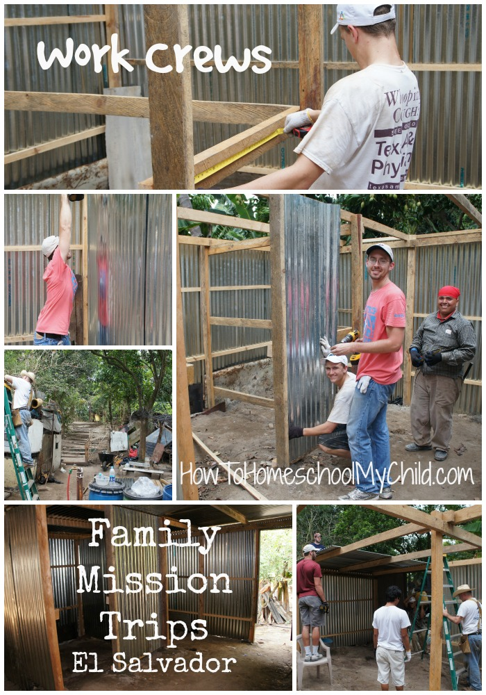Family Mission Trips - Helping our neighbor get new walls & roof form HowToHomeschoolMyChild.com
