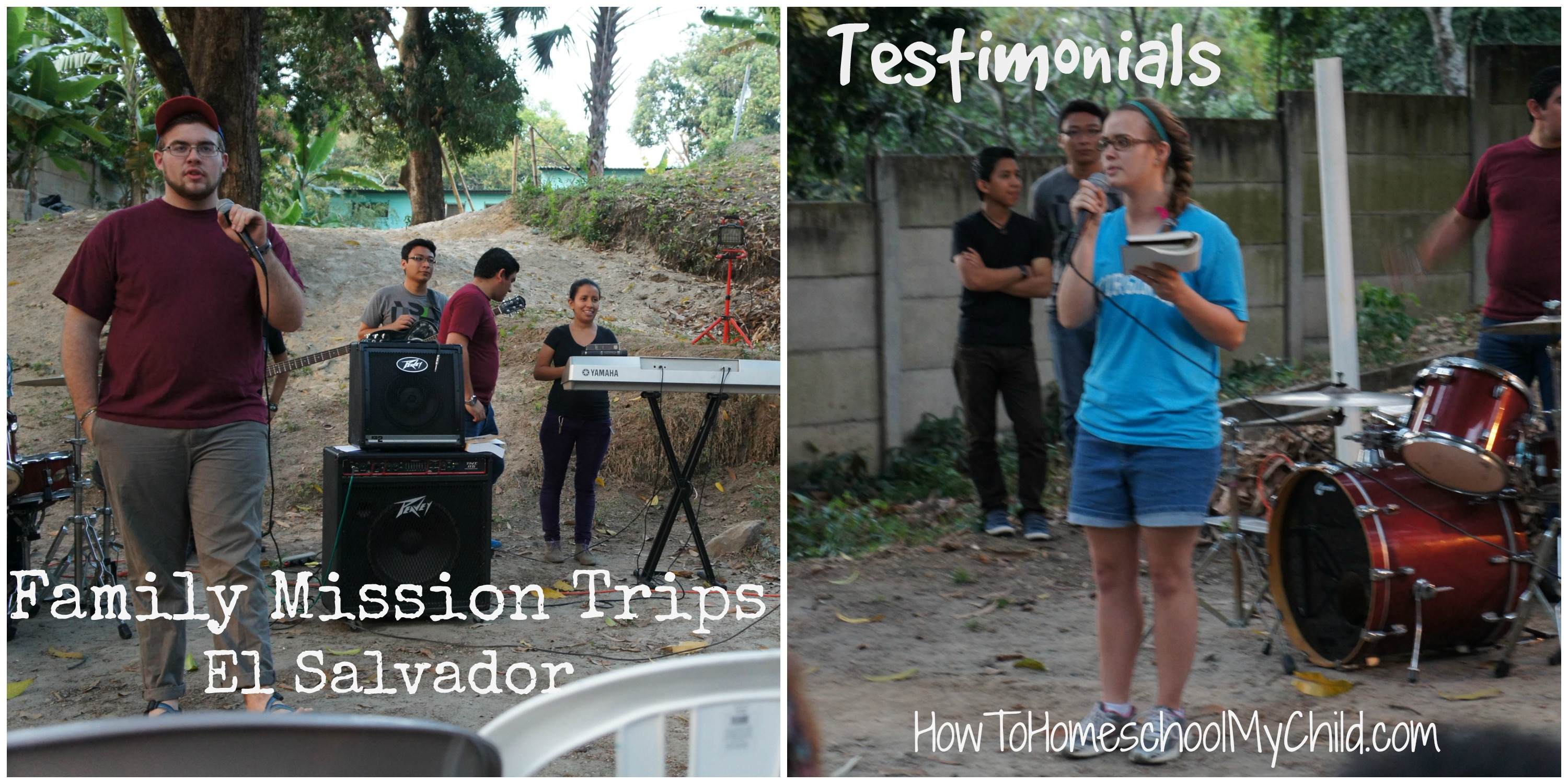 Testimonies during our Outreach of our Family Mission Trips ~ from HowToHomeschoolMyChild.com