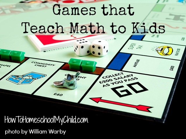 games that teach math to kids - recommended by HowToHomeschoolMyChild.com