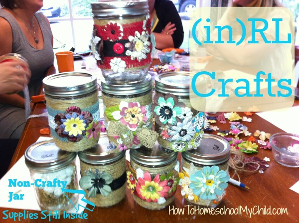 Story Jar craft - Easy craft made at (in)RL ~ from HowToHomeschoolMyChild.com