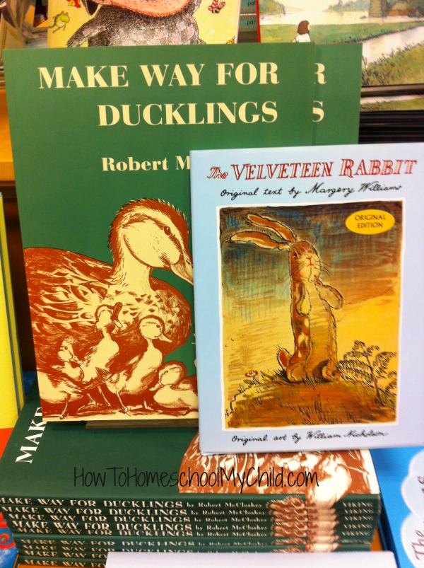 Velveteen Rabbit & Make Way for Ducklings - Short bedtime stories for kids - recommended by HowToHomeschoolMyChild.com