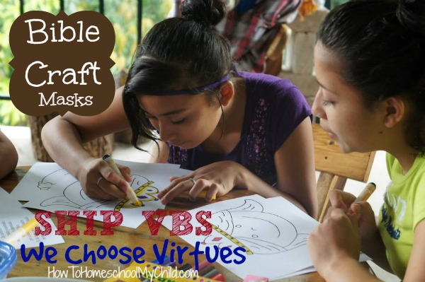 Masks - Bible crafts about Ahab from We Choose Virtues ~ recommended by HowToHomeschoolMyChild.com