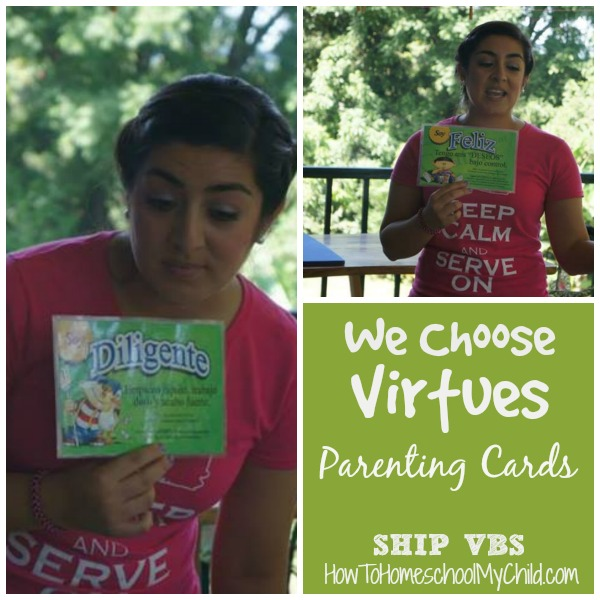 Reviewing diligence & contentment with We Choose Virtues Parenting Cards ~ recommended by HowToHomeschoolMyChild.com