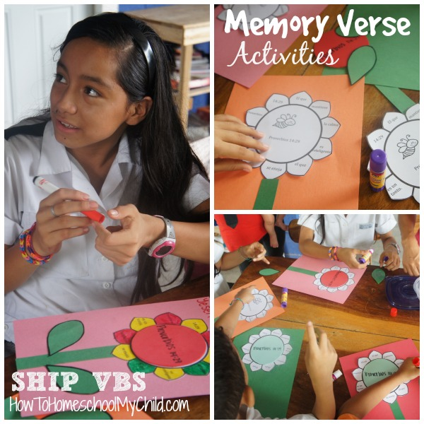 Memory Verse activities go with this Flower Bible craft  ~ FREE bible lessons for Kids from HowToHomeschoolMyChild.com