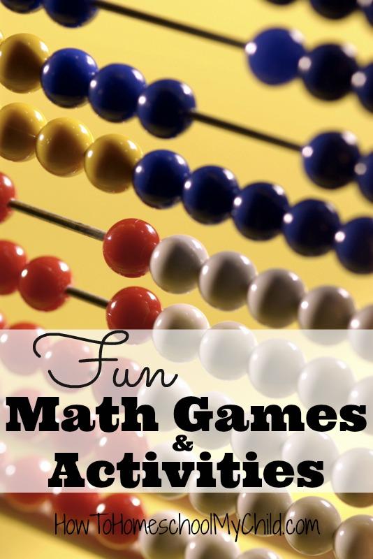 Fun Math Games & Activities for Homeschool from Weekend Links on HowToHomeschoolMyChild.com