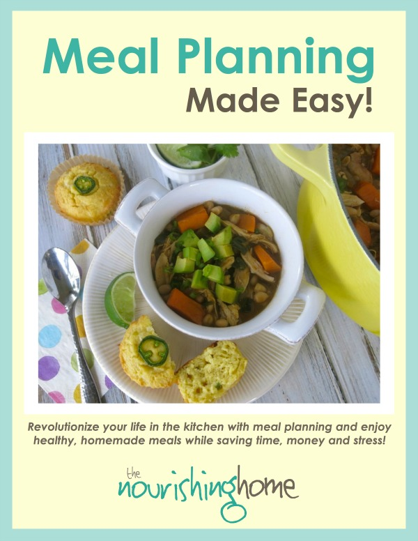 easy healthy meals with your kids, from Meal Planning Made Easy {Book Review} from HowToHomeschoolMyChild.com