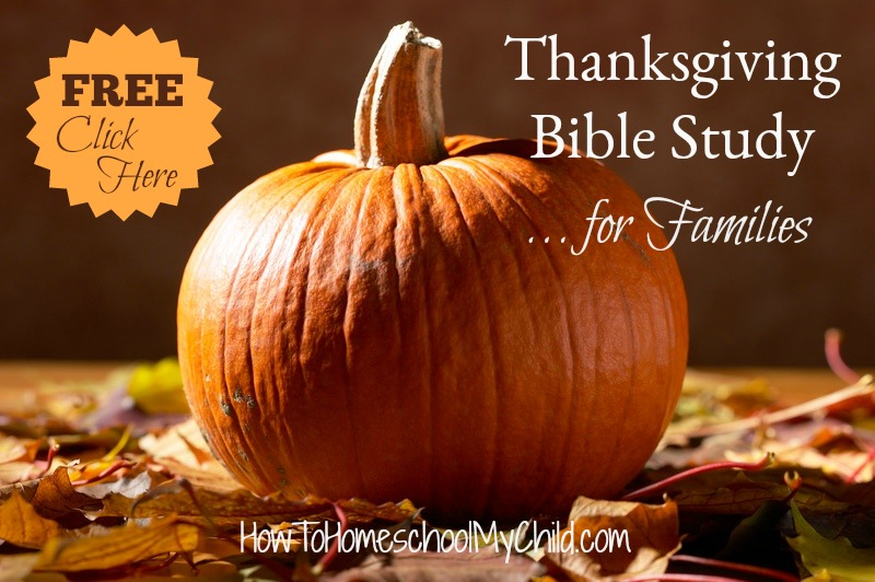 Free Thanksgiving Bible study for Families - from 30 Days of Thanksgiving Activities for Kids
