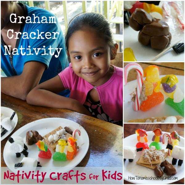 Graham Cracker Nativity Crafts for Kids from HowToHomeschoolMyChild.com