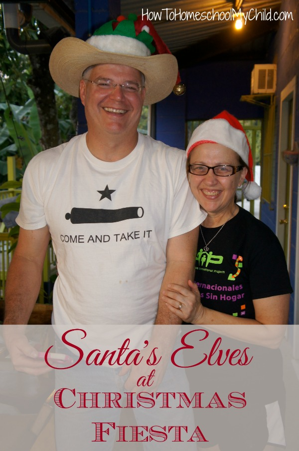 Santa's elves on family mission trip, passing out Christmas gifts & stockings