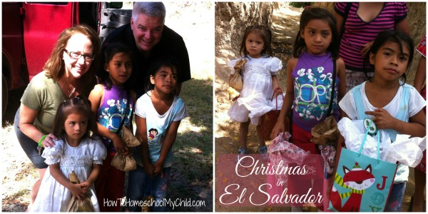 Christmas in El Savador on a family mission trip