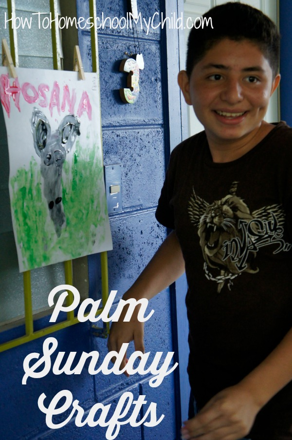 Palm Sunday Crafts for Kids from HowToHomeschoolMyChild.com