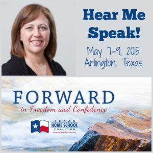 Come hear me speak at THSC convention in Arlington, TX