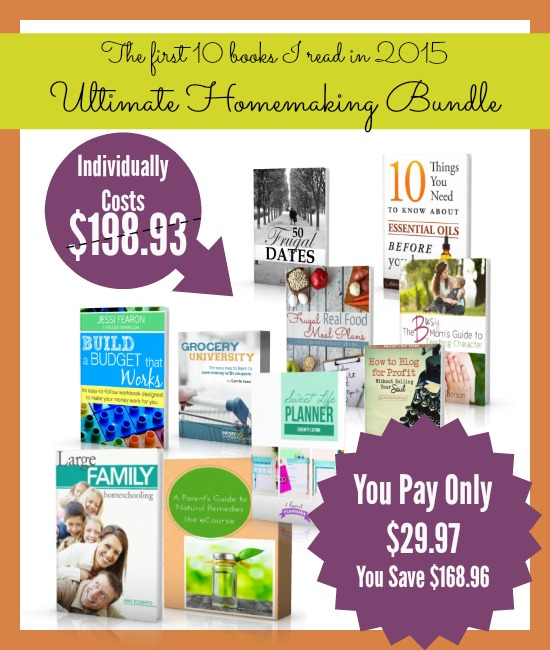 Save 97% when you get the Ultimate Homemaking Bundle. I can't wait to read these resources