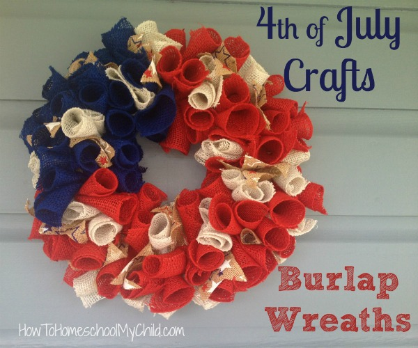 Fourth of July Crafts - Fun & easy wreath even your kids can make. It's really that easy.