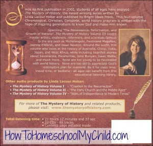 Mystery of History, Volume 3 - Check out our history curriculum that brings history to life! www.HowToHomeschoolMyChild.com