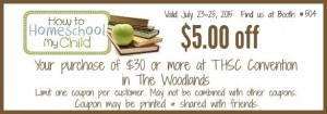 $5 off your $30 or more purchase. Just print this coupon and bring it to THSC - Woodlands