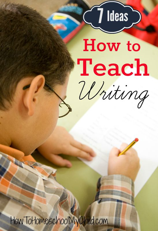 7 Ideas on How to Teach Writing {Weekend Links from HowToHomeschoolMyChild.com}