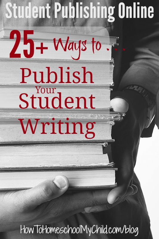 Get 25+ ways to publish your students' writings from HowToHomeschoolMyChild.com/blog