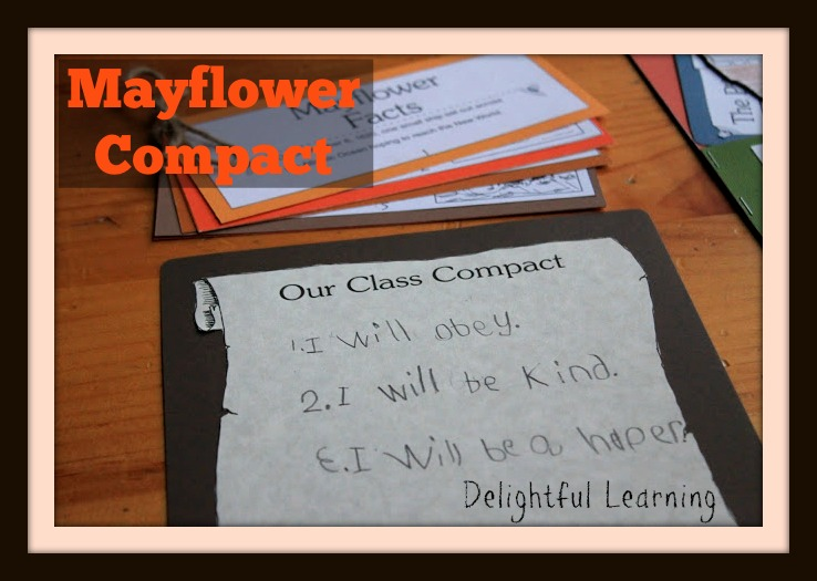 Using my favorite curriculum, Michelle had her children write a Class Compact like on the Mayflower. www.HowToHomeschoolMyChild.com