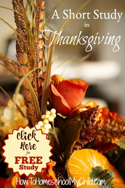 Short study in Thanksgiving - FREE Thanksgiving Bible study from 30 days of Thanksgiving activities for kids