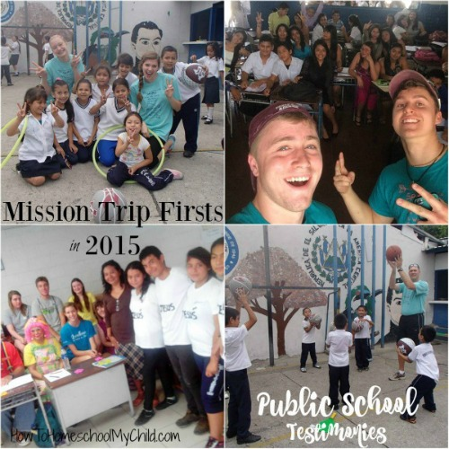 Family MIssion Trip Firsts was Sharing our testimonies in the public school - If you want to involve your kids in missions, think about sponsoring one of our kids - HowToHomeschoolMyChild.com