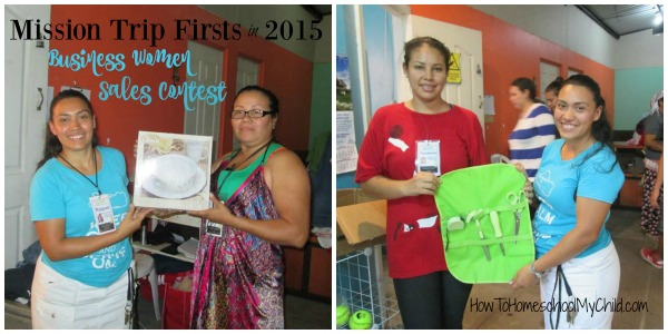 Family Mission Trip Firsts - Sales Contest for our ladies with micro businesses from HowToHomeschoolMyChild.com