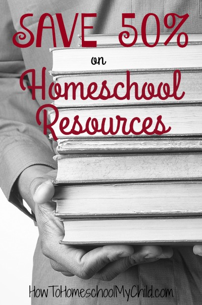 Save 50% on Homeschool Resources - this week only from HowToHomeschoolMyChild.com
