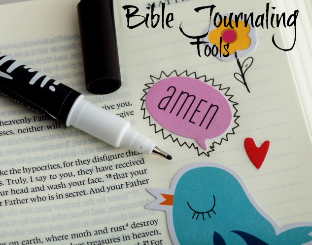 Perfect black marker for Bible journaling - How to use it from HowToHomeschoolMyChild.com