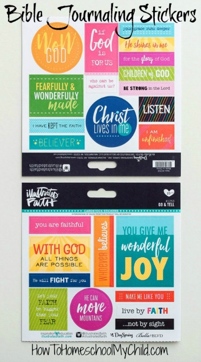 Creative Bible journaling tools from Illustrated Faith ... see more at HowToHomeschoolMyChild.com