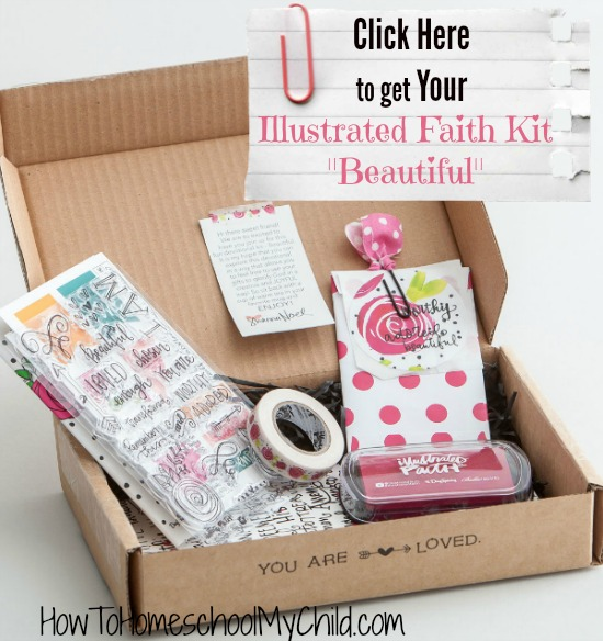 Start Bible journaling with your daughters & use Beautiful by Illustrated Faith...read a review from HowToHomeschoolMyChild.com