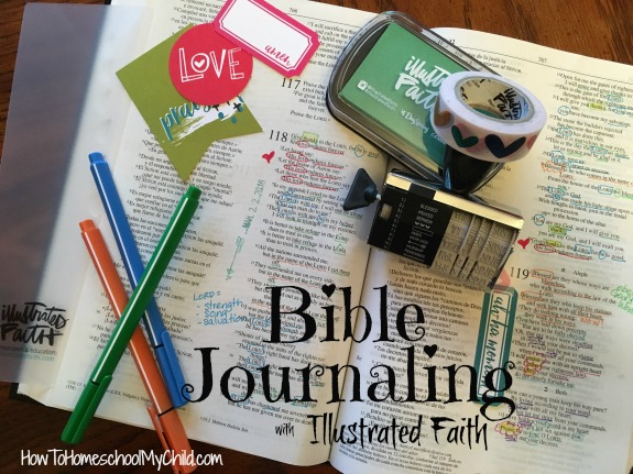 Bible journaling with Illustrated Faith - more info from HowToHomeschoolMyChild.com