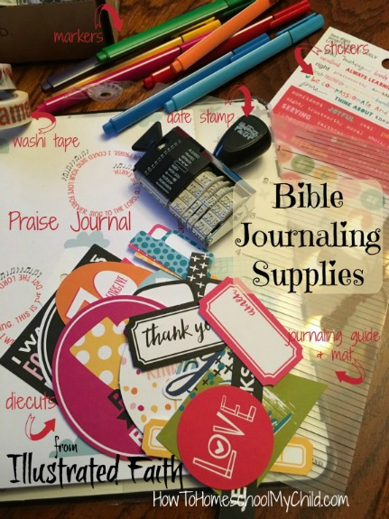 I love the Bible journaling supplies from Illustrated Faith - more info from HowToHomeschoolMyChild.com