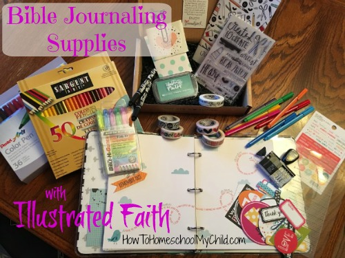 Bible Journaling supplies from Illustrated Faith - more from HowToHomeschoolMyChild.com