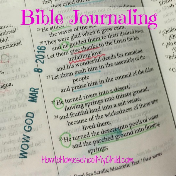 Try Bible journaling with markers & Illustrated Faith stamp ... review from HowToHomeschoolMyChild.com