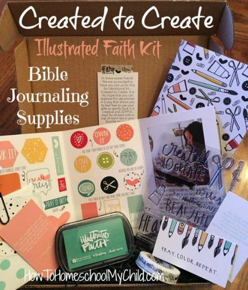 Created to Create Bible journaling kit from Illustrated Faith - discover how to save $10 from HowToHomeschoolMyChild.com