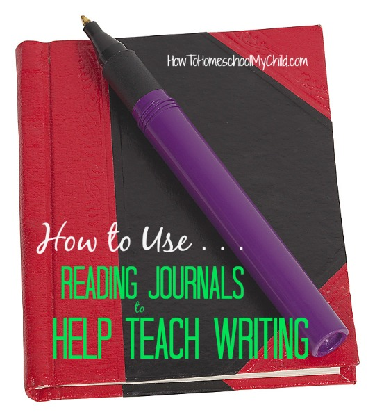 how to use reading journals to help teach writing at all ages ... from HowToHomeschoolMyChild.com